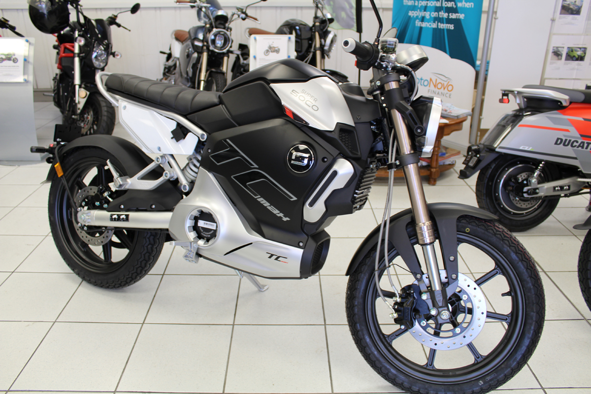 NEW Super Soco TC Max Electric Motor Cycle - Alloy wheel - MORE DUE IN SOON